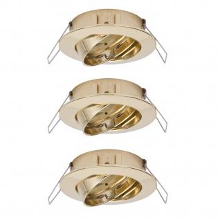 Paulmann 997.45 2easy Premium Einbauleuchte 3er Spot-Set schwenkbar 51mm Gold