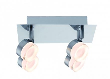Paulmann 603.81 Spotlight Slice LED Rondell 4x4, 3W Eisen gebürstet 230V Metall