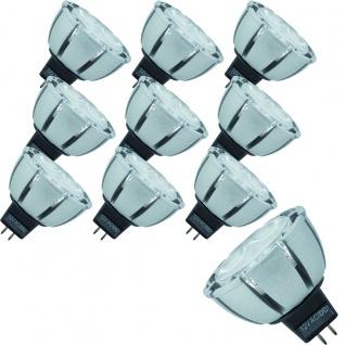 28064.10 Paulmann 10 Stück 12V Fassung LED Premiumline Reflektor 51mm 4W GU5, 3 dimmbar