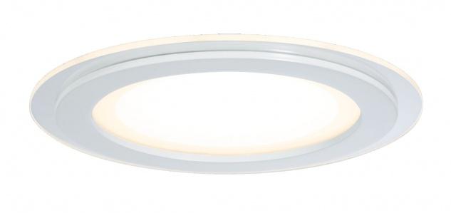 Paulmann Premium Einbauleuchte Set DecoDot rund LED 2x7, 5W 18VA 160mm Klar/Weiß Glas/Metall