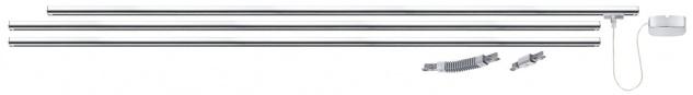 Paulmann URail Schienensystem Light&Easy Basissystem max. 1000W Chrom 230V Metall