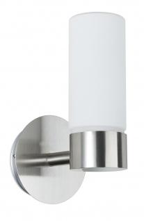 Paulmann 703.53 WallCeiling Eleon WL IP44 33W G9 Eisen gebürstet/Satin 230V Metall/Glas