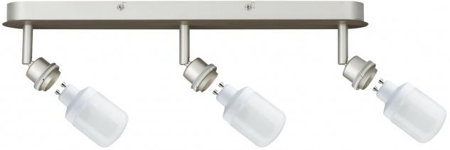 Paulmann Spotlights DecoSystems Balken 3x9W GU10 Nickel matt 230V Metall