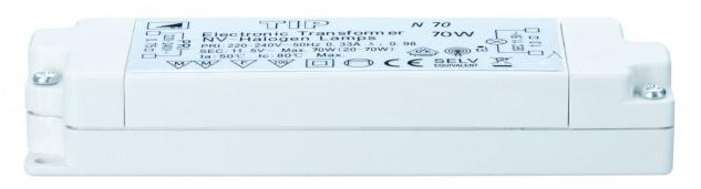 TIP 977.87 VDE Elektroniktrafo 20-70W 230/12V 70VA Weiß