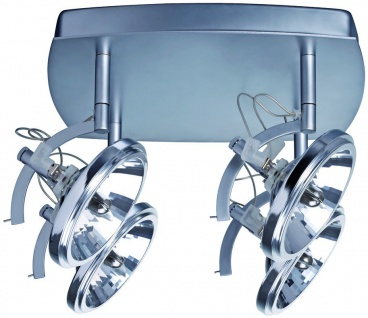Paulmann 664.58 Spotlights Wasabi Rondell 4x50W G53 Chrom matt 230/12V 2x105VA Metall