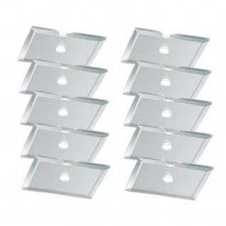 Paulmann Star Einbauleuchte Set quadratisch LED 10x0, 25W 15VA 230/12V 63mm Spiegel Silber/Metall/Glas