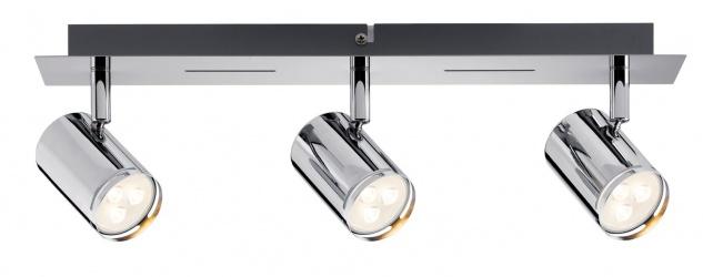 Paulmann Spotlight Rondo LED Balken 3x3, 5W GU10 Chrom 230V Metall