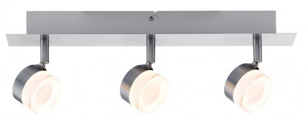 Paulmann 603.79 Spotlight Slice LED 3x4, 3W Eisen gebürstet 230V Metall