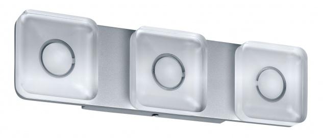 Paulmann 704.74 WallCeiling eckig Tucana IP44 LED 13, 5W Alu eloxiert/Klar 230V Metall/Acryl
