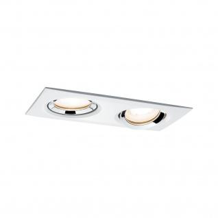 Paulmann Prem Einbauleuchte Set Nova IP65 schwenkbar LED 1x2x7W 230V GU10 51mm Weiß m-Chrom/Alu Zi
