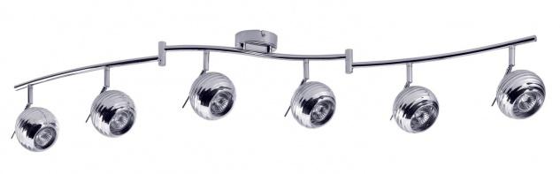 Paulmann 602.84 Spotlights Sigma 6x40W GU10 Chrom 230V Metall/Glas