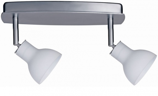 664.45 Paulmann Spotlights Chili Balken 2x35W GU5, 3 Chrom matt/Satin 230/12V 60VA Met/Glas