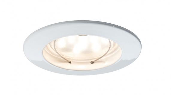 Paulmann Premium Einbauleuchte Set Coin dimmbar klar rund st LED 3x7W 2700K 230V 51mm Weiß matt/Alu Zink