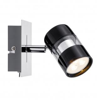 Paulmann 601.86 Spotlight Nevo LED Balken 1x3, 5W GU10 Schwarz/Chrom 230V Metall