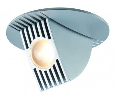 Paulmann Premium Einbauleuchte Set Bow LED kippbar 65° 1x6, 5W 230V/350mA 100mm Chrom matt/Alu