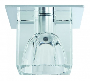 Paulmann Quality Einbauleuchte Glassy Cube max. 20W 12V G4 83x83mm Klar/Chrom Glas/Metall