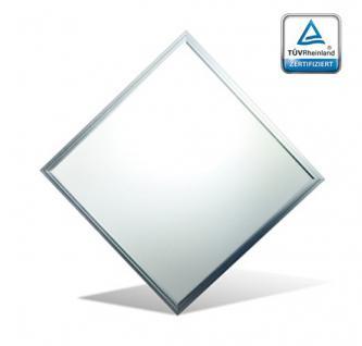 LED Panel 62x62 cm Alu 42W 4500lm 4000K neutral weiss UGR19 Deckenraster Ultraslim Chrom Matt