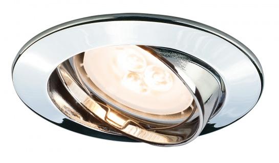 Paulmann 926.60 Premium Einbauleuchte Set schwenkbar LED 3x4W 230V GU10 51mm Chrom/Alu
