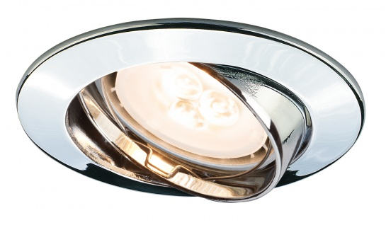 Paulmann Premium Einbauleuchte Set schwenkbar LED 3x4W 230V GU10 51mm Chrom/Alu
