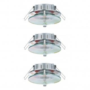 Paulmann 2Easy Premium Einbauleuchte 3er Spot-Set Level starr 51mm Chrom/Schwarz/Dichroic