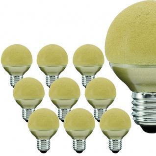 10 Stück 280.77 Paulmann E27 Fassung LED Miniglobe 60 1x2, 3W E27 Eiskristall Bernstein