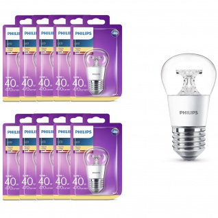 10x Philips 8718696505762 5, 5 W (40 W), E27, warmweiß, Tropfenform