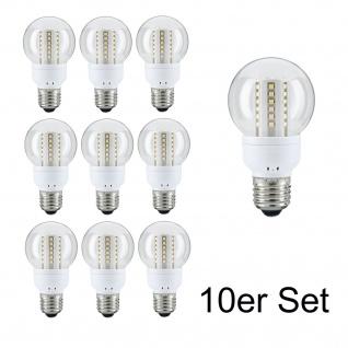 10x 28102.10 Paulmann E27 Fassung LED AGL 3W Klar Warmweiß 250 lm