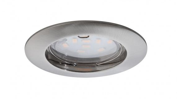 Paulmann Einbauleuchten LED Coin 3er 6er 9er Set 6, 8Watt 3cm Einbautiefe Eisen gebürstet - Vorschau 2