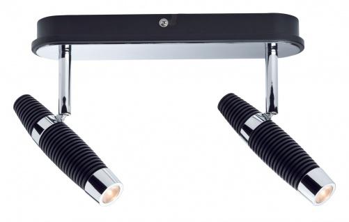 Paulmann Spotlight Channel LED Balken 2x10W Schwarz/Chrom 230V Metall