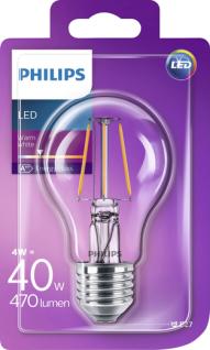 Philips 8718696573815 E27 LED Classic Leuchtmittel 4, 3W 470lm Filament Warmweiß - Vorschau 2