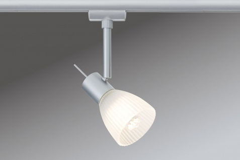 Paulmann 951.19 URail Syst. Light&Easy LED Spot Phara 1x3W GU10 Chrom matt/Satin 230V Metall/Glas
