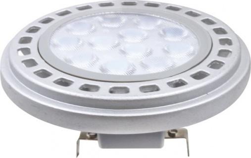 MILI AR111 LED Leuchtmittel 12W G53 3000K Warmweiss 12V 900lm Silber Abstrahlwinkel 45°