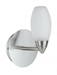 Paulmann 703.52 WallCeiling Carina WL IP44 28W G9 Eisen gebürstet/Satin 230V Metall/Glas