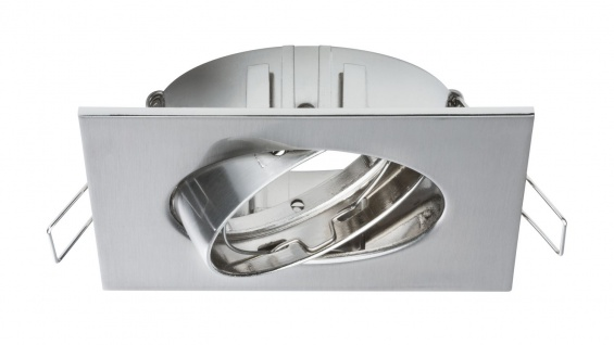 Paulmann 2Easy Premium Einbauleuchte 3er Spot-Set Quadro schwenkbar 51mm Eisen gebürstet