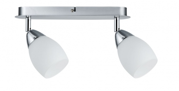 Paulmann 602.65 Spotlights WolbaLED Balken 2x3W GU10 230V Chrom matt Metall/Glas - Vorschau 2