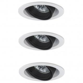 3x Paulmann Premium Einbauleuchte Daz rund schwenkbar 5W LED 230V GU10 Weiß m./Schw. 926.81.3.LED3000K - Vorschau 2