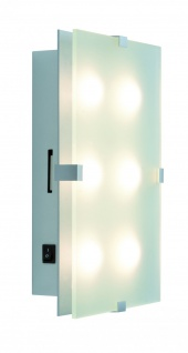 Paulmann WallCeiling Xeta dimmbar IR Fernbedienung LED 15W 320x200mm Chrom matt 230V Metall/Glas