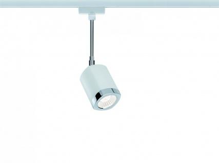 Paulmann 952.05 URail Schienensystems LED Spot Wankel 1x5, 4W Weiß/Chrom 230V Metall