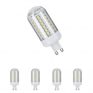 4er Set LED HV-Stiftsockel 3, 5W 60 LEDs G9 Warmweiß