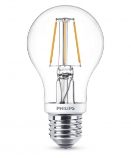 Philips 8718696573815 E27 LED Classic Leuchtmittel 4, 3W 470lm Filament Warmweiß
