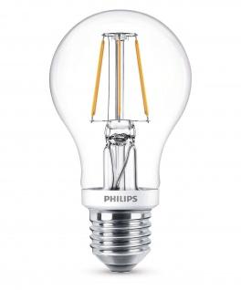 Philips 8718696573815 E27 LED Classic Leuchtmittel 4, 3W 470lm Filament Warmweiß - Vorschau 1