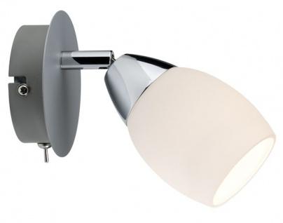 600.76.LED Paulmann Wandleuchten Spotlights Wolba Balken 1x4W LED GU10 230V Chrom matt Metall/Glas