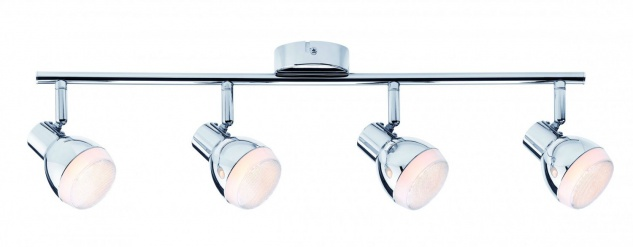 603.67 Paulmann Deckenleuchten Spotlight Gloss LED 4x4, 6W Chrom 230V Kunststoff