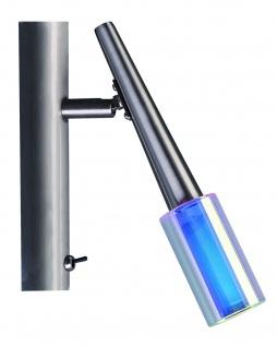 230V Spotlights Zinnia Balken 1x40W G9 Nickel satiniert/Glas dichroic Metall/Glas