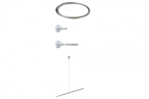 974.27 Paulmann 230V Seilsysteme Wire System HighWire Duo Erweiterung II 10m Chrom matt Metall