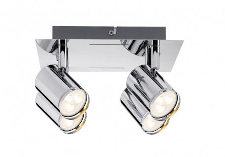 Paulmann 601.85 Spotlight Rondo LED Rondell 4x3, 5W GU10 Chrom 230V Metall