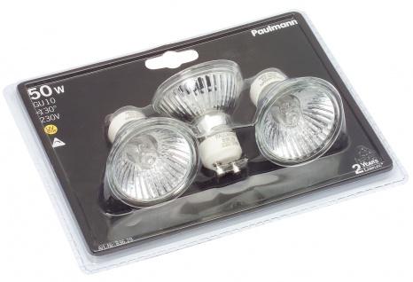 Paulmann 836.29 Halogen Reflektorlampe 3x50W GU10 230V 51mm Silber