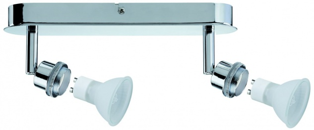 Paulmann Spotlights DecoSystems Balken 2x40W GZ10 Chrom 230V Metall