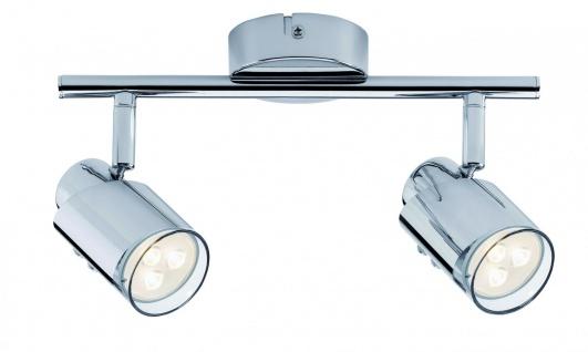 Paulmann 601.79 Spotlight Futura LED Stange 2x3, 5W GU10 Chrom 230V Metall