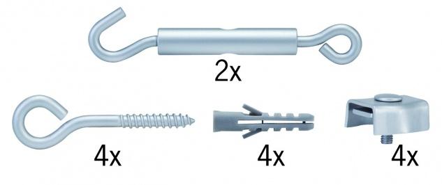 Paulmann Wire System Light&Easy Spann-Montageset Chrom matt Metall